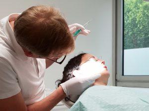 Behandlung mit Botox